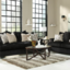 Rent to Own Heflin Ebony So... - Rent to own Furniture