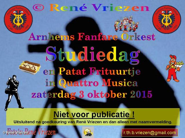 R,Th,B,Vriezen 20151003 0000 Arnhems Fanfare Orkest StudieDag met Frituurtje zaterdag 3 oktober 2015