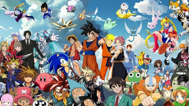 all anime characters wallpaper together 1024x575 b canime