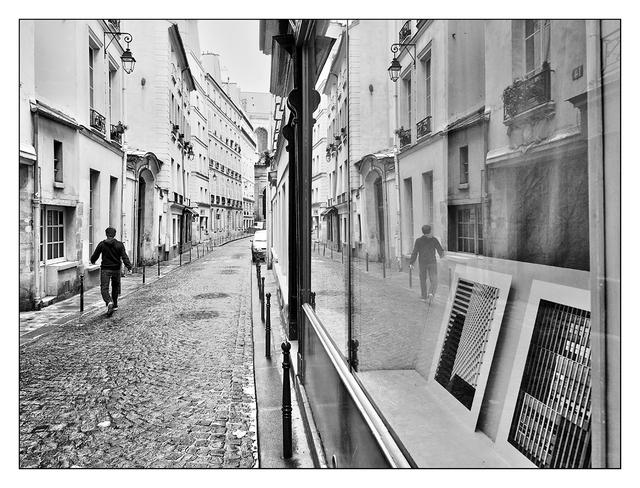 Paris Street Reflection France