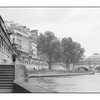 La Seine black and white - France