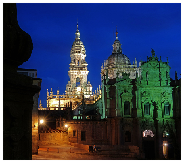 Santiago de Compostela night Spain