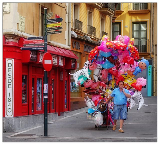 Balloons in Pamplona Spain