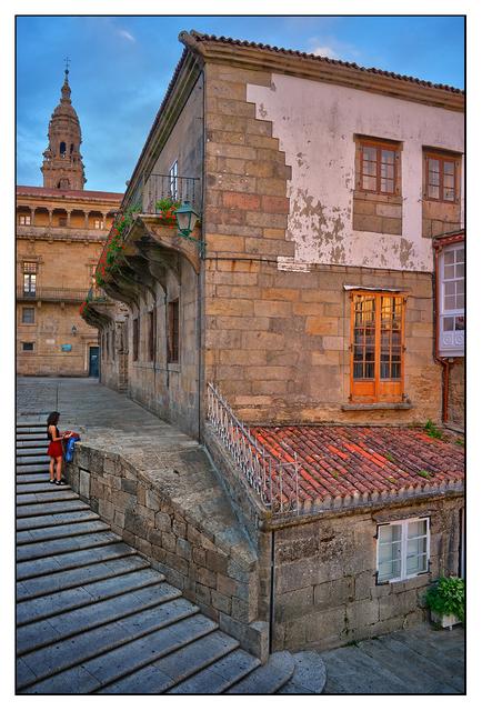 Santiago de Compostela Steps Spain