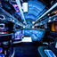Multi Neon lit Party Bus In... - Picture Box