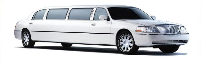White Lincoln Limo Picture Box