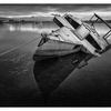 Abandoned Boat 2016 1 - Black & White and Sepia