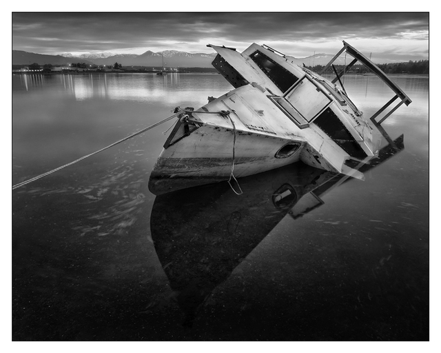 Abandoned Boat 2016 1 Black & White and Sepia
