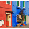 Burano Blue Red - Venice & Burano