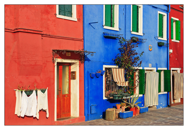 Burano Blue Red Venice & Burano
