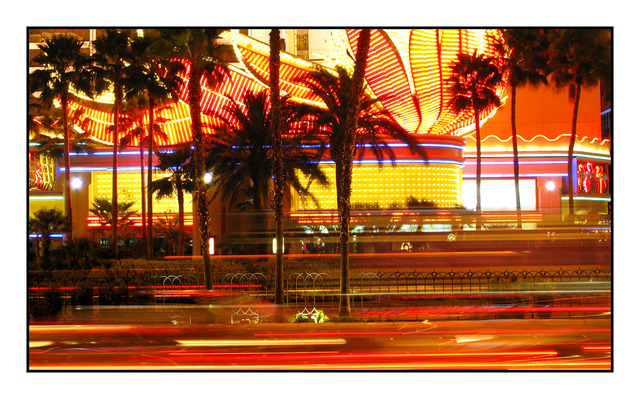 Flamingo lights Vegas Las Vegas