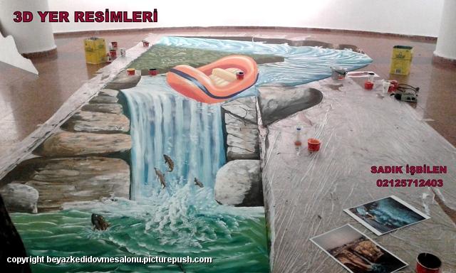 3 boyutlu yer resimleri Türkiye sokak resimleri 3d cadde ressamı Türkiye