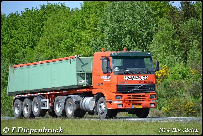 BJ-VN-71 Volvo FH12 Wemeijer-BorderMaker - Rijdende auto's 2016