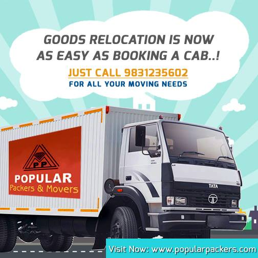 Goods relocation service Popular Packers & Movers