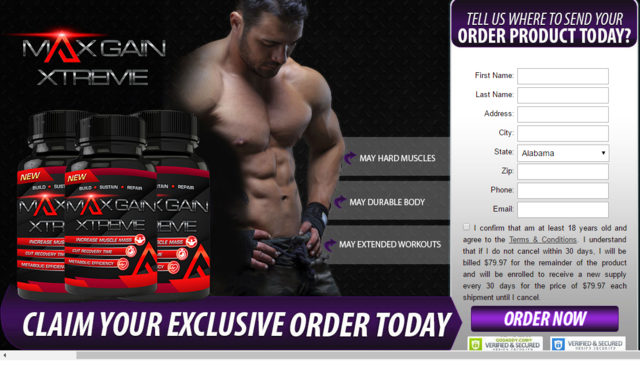 building Max Gain Xtreme  http://www.myfitnessfacts.com/max-gain-xtreme