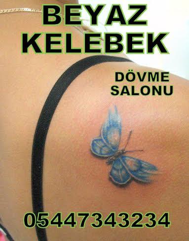 dövme modelleri Beyaz Kelebek Dövme Modelleri