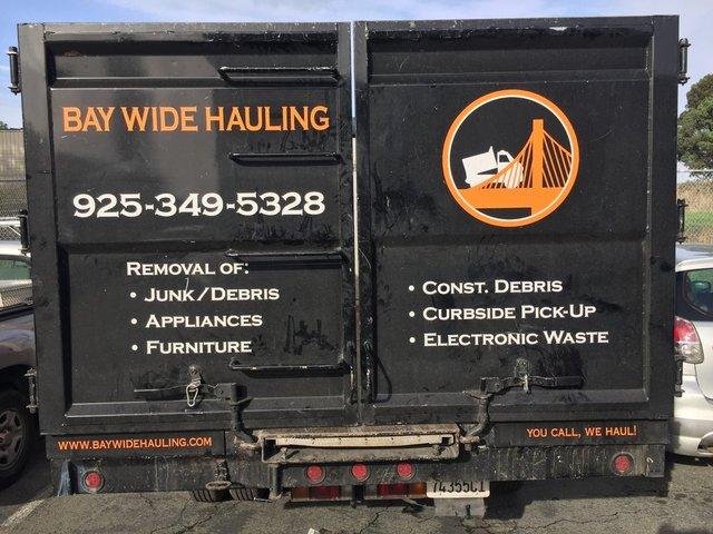 junk removal danville ca Bay Wide Hauling