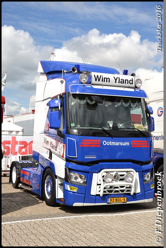 92-BDL-5 Renault T Yland-BorderMaker - Truckstar 2016