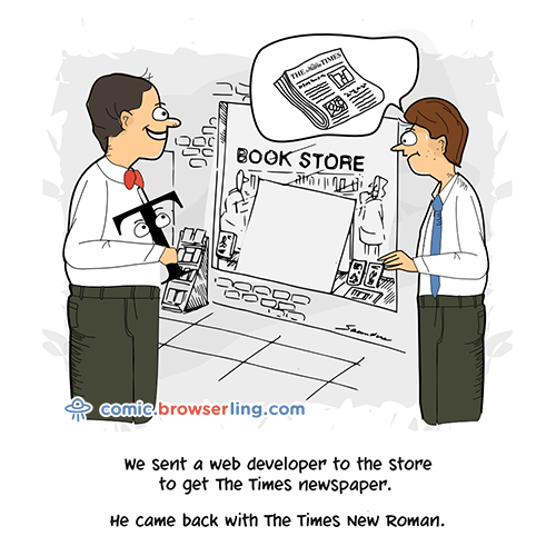 Newspaper - Web Joke Tech Jokes