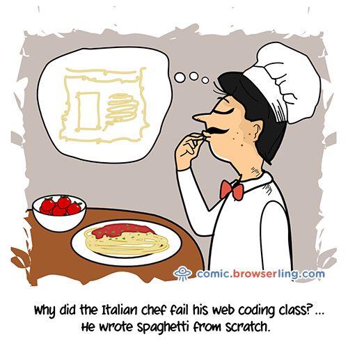spaghetti - Web Joke Tech Jokes