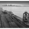 Lantern Dock - Black & White and Sepia
