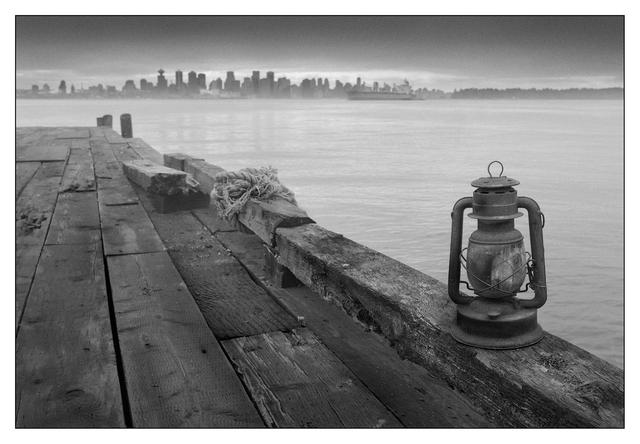 Lantern Dock Black & White and Sepia