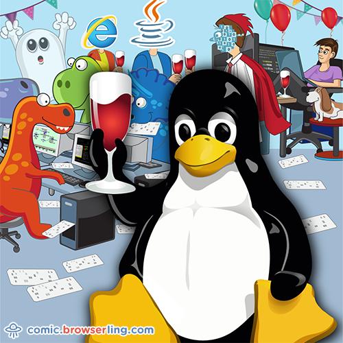 Tux Party - Web Joke Tech Jokes