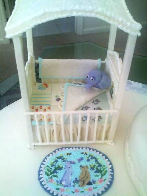 The baby shower with decorated picture frames Picture Box