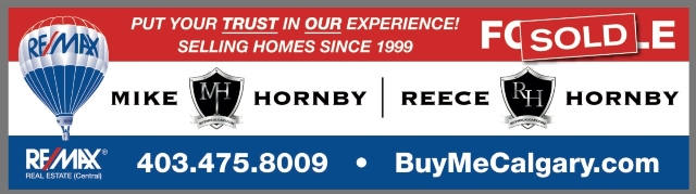 real estate calgary Mike & Reece Hornby, Calgary Real Estate Agents of RE/MAX - BuyMeCalgary.com