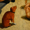 Dogs in museum