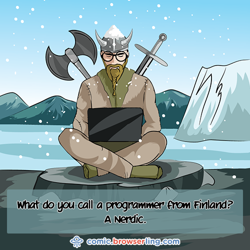 Viking - Web Joke Tech Jokes