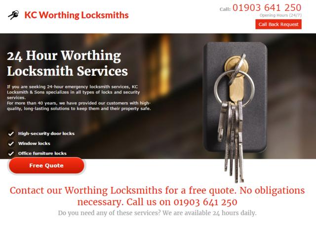 K C Worthing Locksmiths Picture Box