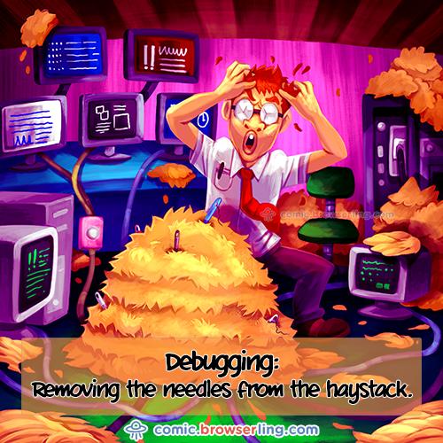 Debugging Programs - Web Joke Tech Jokes