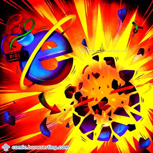 Internet Exploder - Web joke Tech Jokes