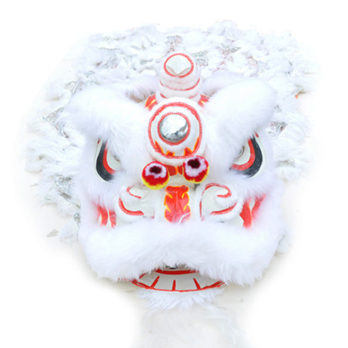 southern-lion-dance-costume-white-silver-02 Lion Dance Costume
