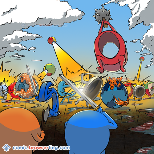 Browser War - Web Joke Tech Jokes