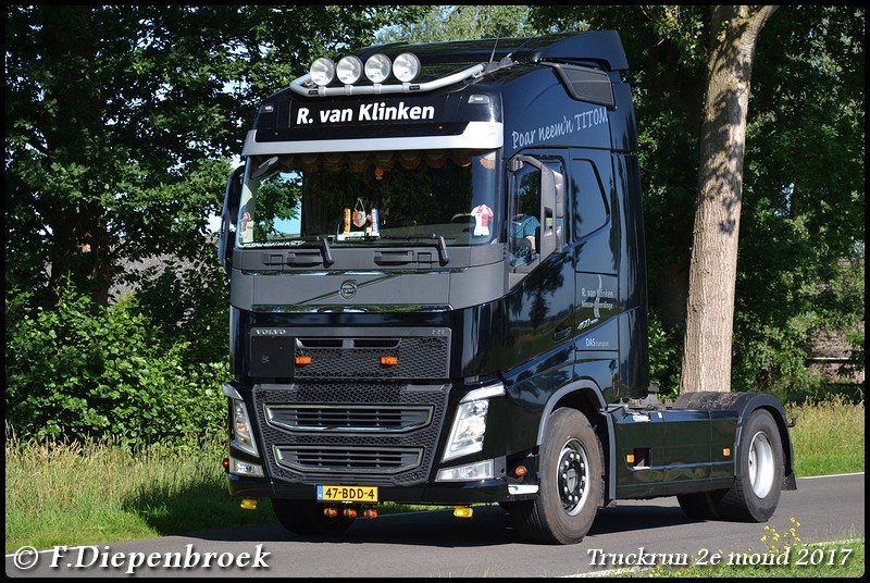 47-BDD-4 Volvo FH4 R van Klinken-BorderMaker - Truckrun 2e mond 2017