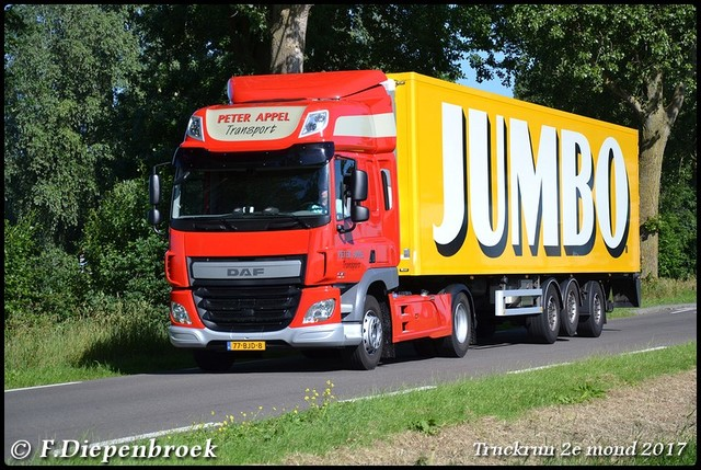 77-BJD-8 DAF CF Peter Appel-BorderMaker Truckrun 2e mond 2017