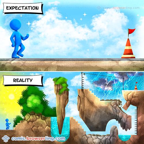Expectations vs Reality - Web Joke Tech Jokes