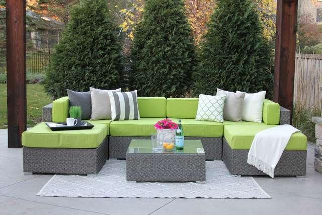 fullerton : dupont 7pc grey wicker palm green Meldecco - Google Shopping