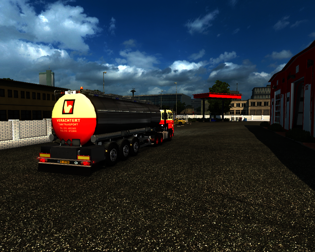 ets2 Daf 2800 6x4 + Tanktrailer Verachtert Tanktra prive skin ets2
