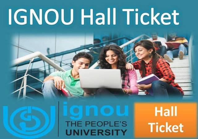 IGNOU Hall Ticket. Admit card