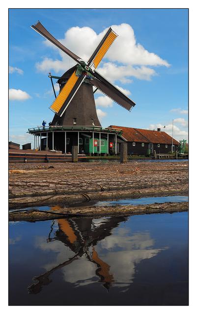 Zaanse Schans Windmill Netherlands