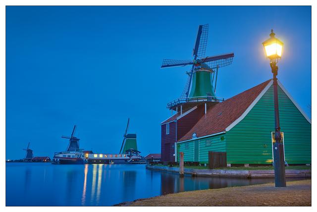 Zaanse Schans Panorama 2b Netherlands