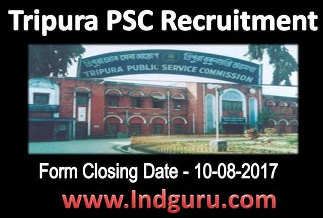 Tripura PSC Recruitment. Recruitment