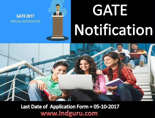 GATE Notification Admission