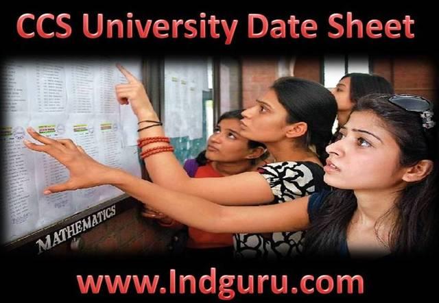 CCS University Date Sheet Date sheet
