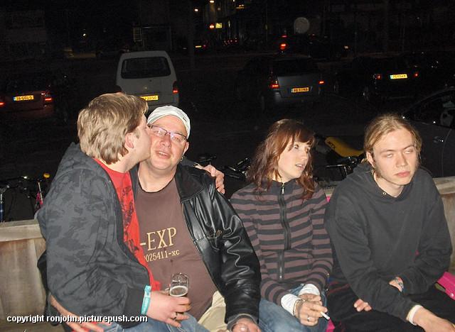 K77 Feest Jelmer Erik Marnix 09-04-09 01 Feest Jelmer en Erik en Marnix 09-04-09 in Rockbunker K'77