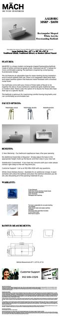 AALBORG Product Info eBay - Mach Bath