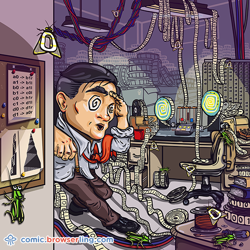 Alan Turing - Web Joke Computer Scientist Comic
